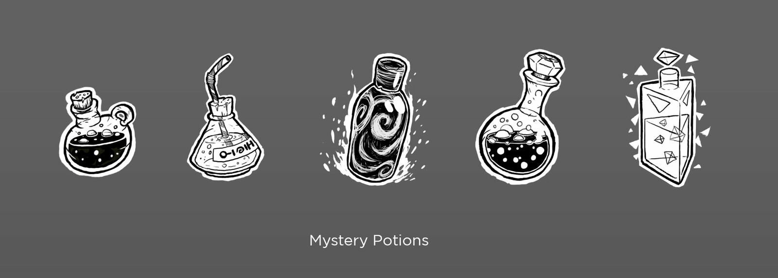 Unidentified Potions concepts