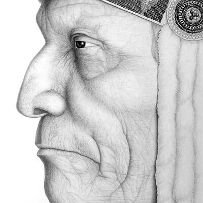 Juraj mlcoch drawing 06 juraj mlcoch war bonnet