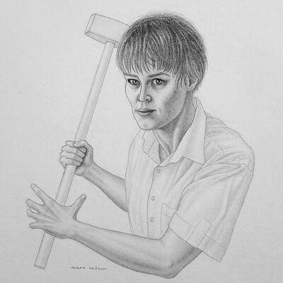 Juraj mlcoch drawing 29 juraj mlcoch knocking on endoskeleton