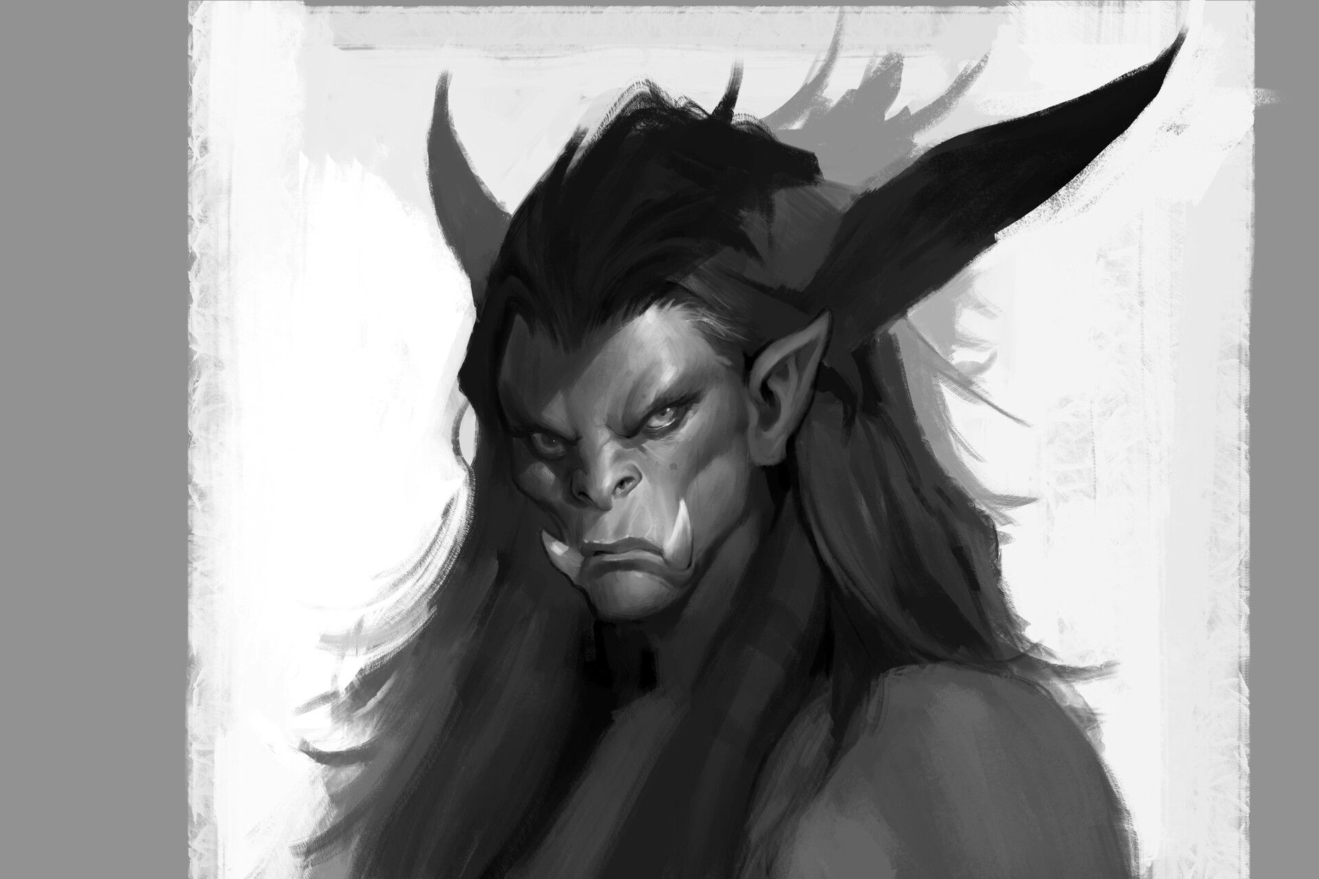 WoW inspired character portrait