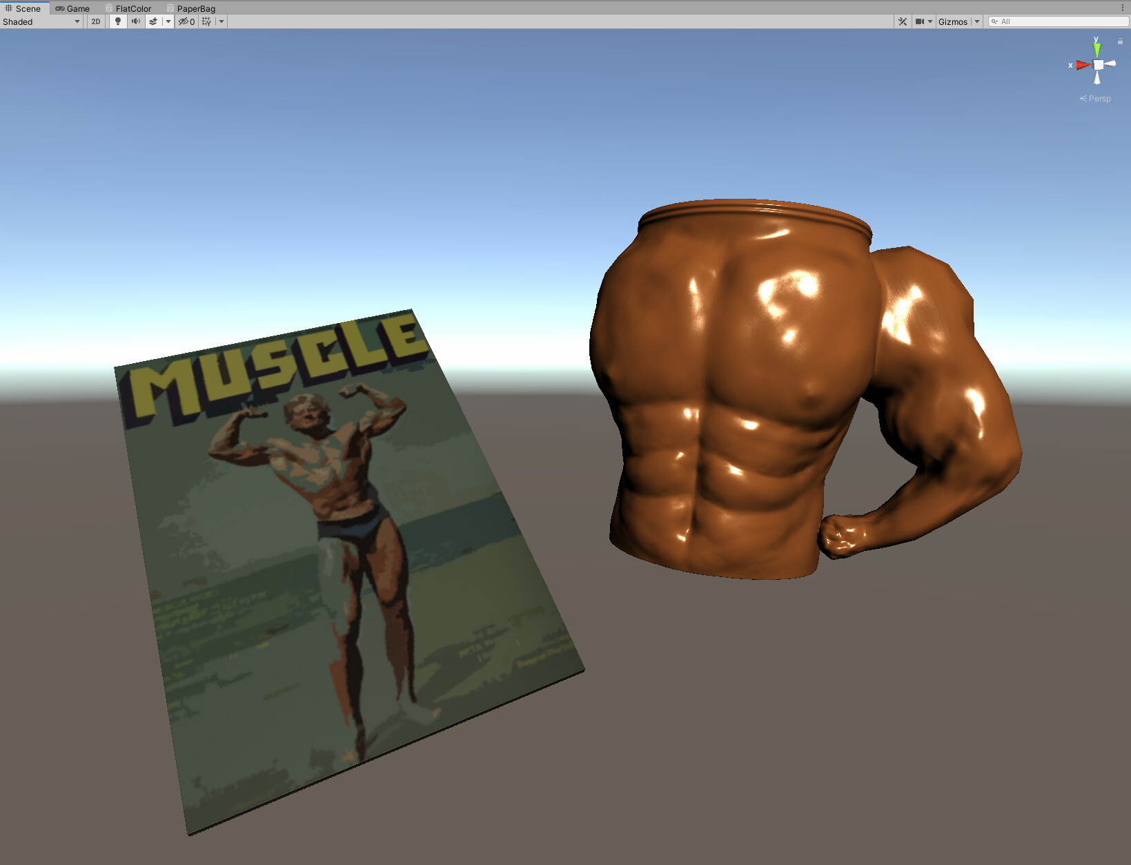 Low-poly model implemented into Unity for real-time gameplay using baked normals from Marmoset Toolbag.