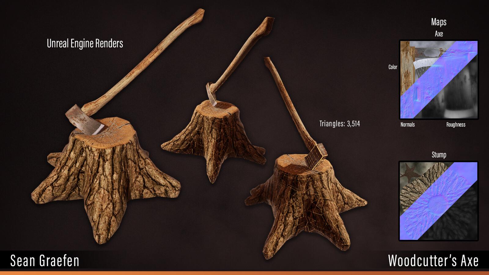 Woodcutter's axe model sheet.