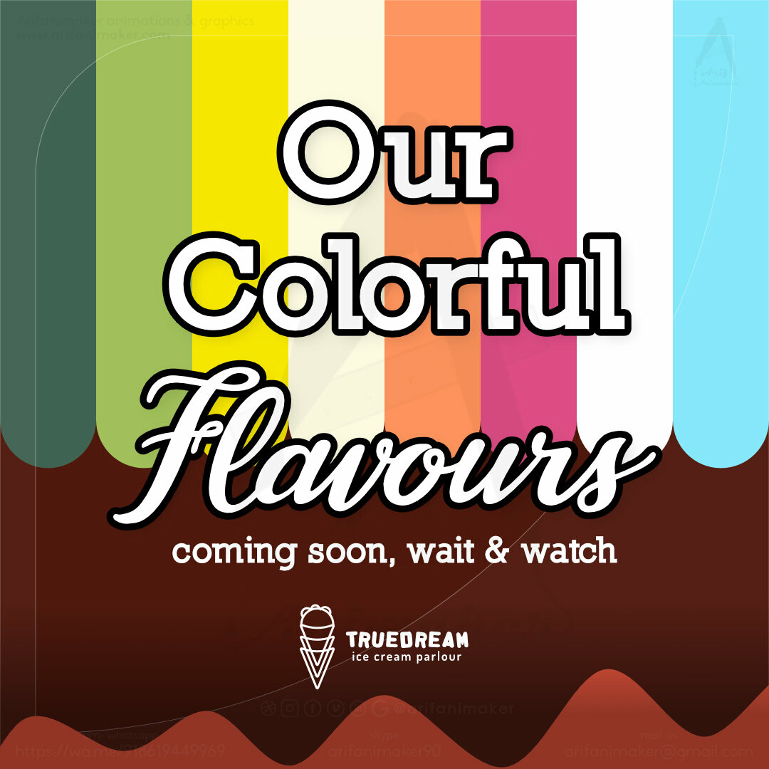 Post #3 - Flavours-coming soon, Attract audience with excitement