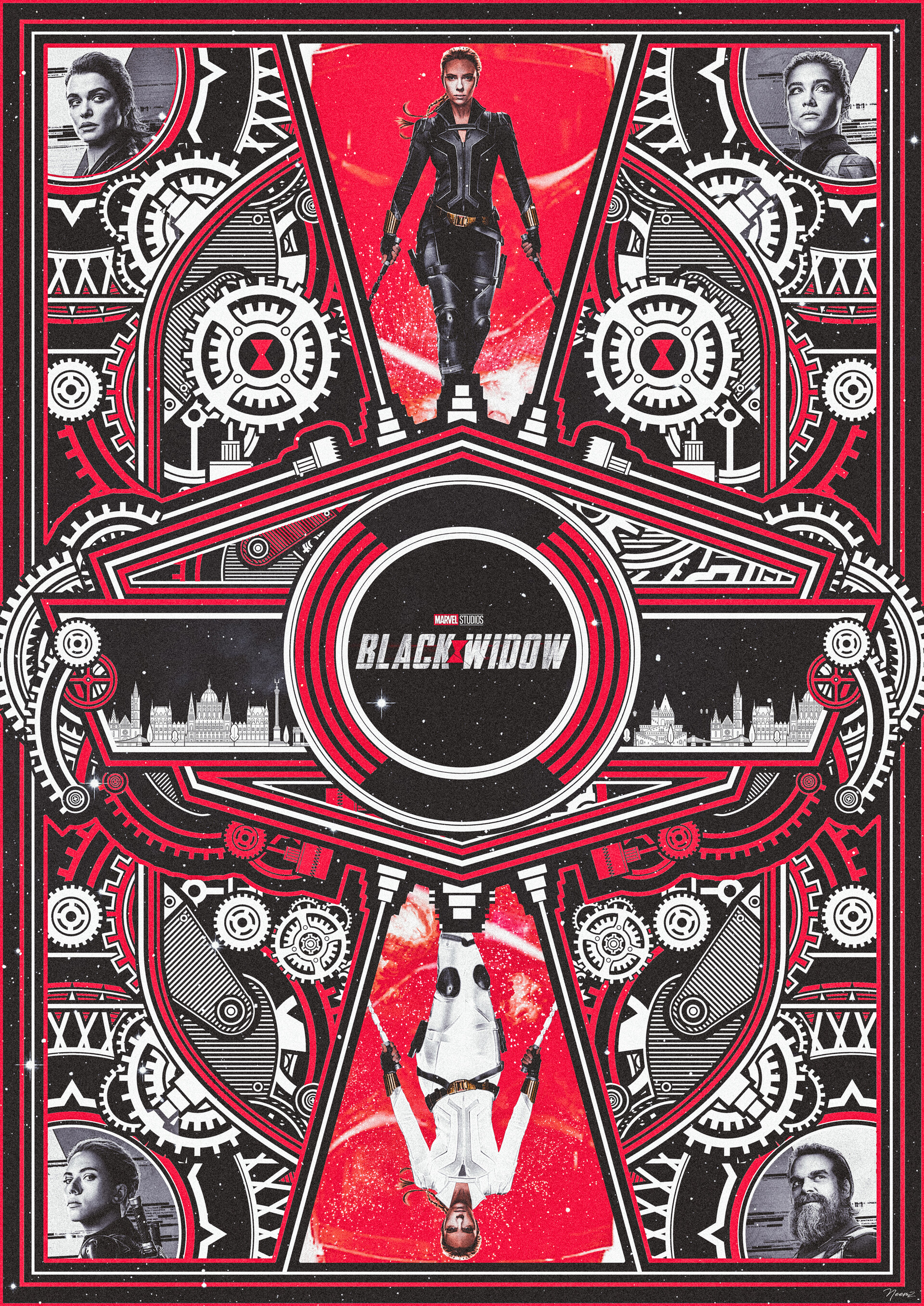 Black Widow Alternative Movie Poster by The Movie Poster Guy, Neemz