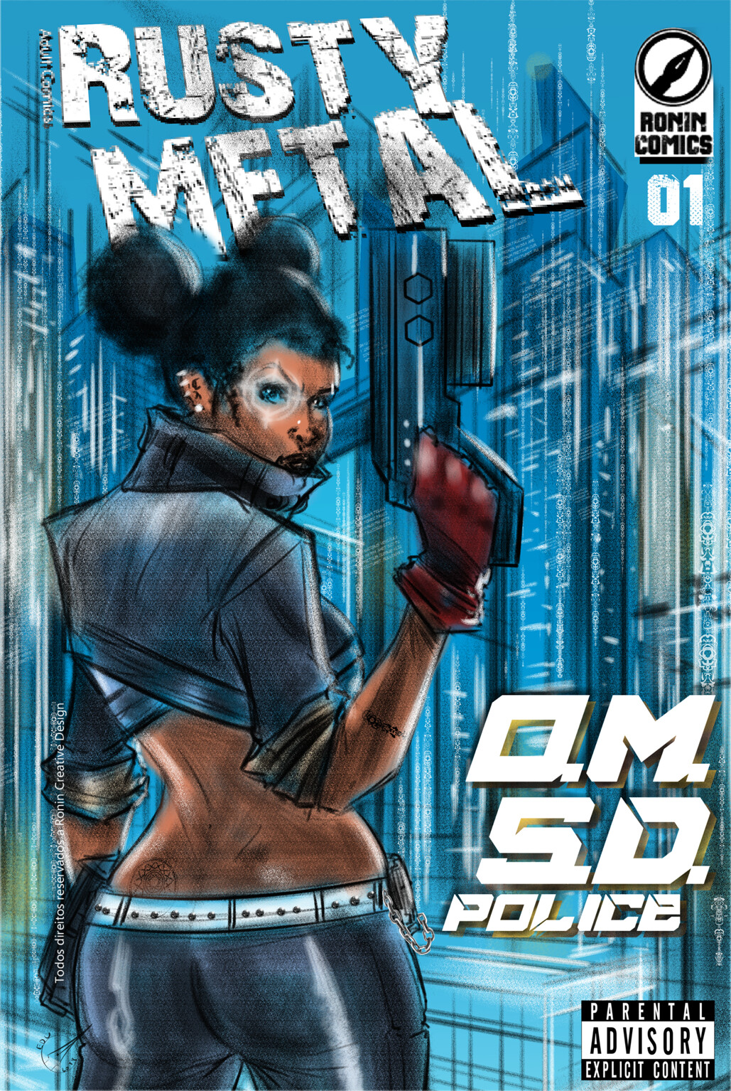 Rusty Metal Adult Comics- OMSD Police