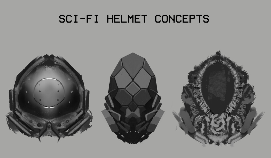 Helmet concept sketches