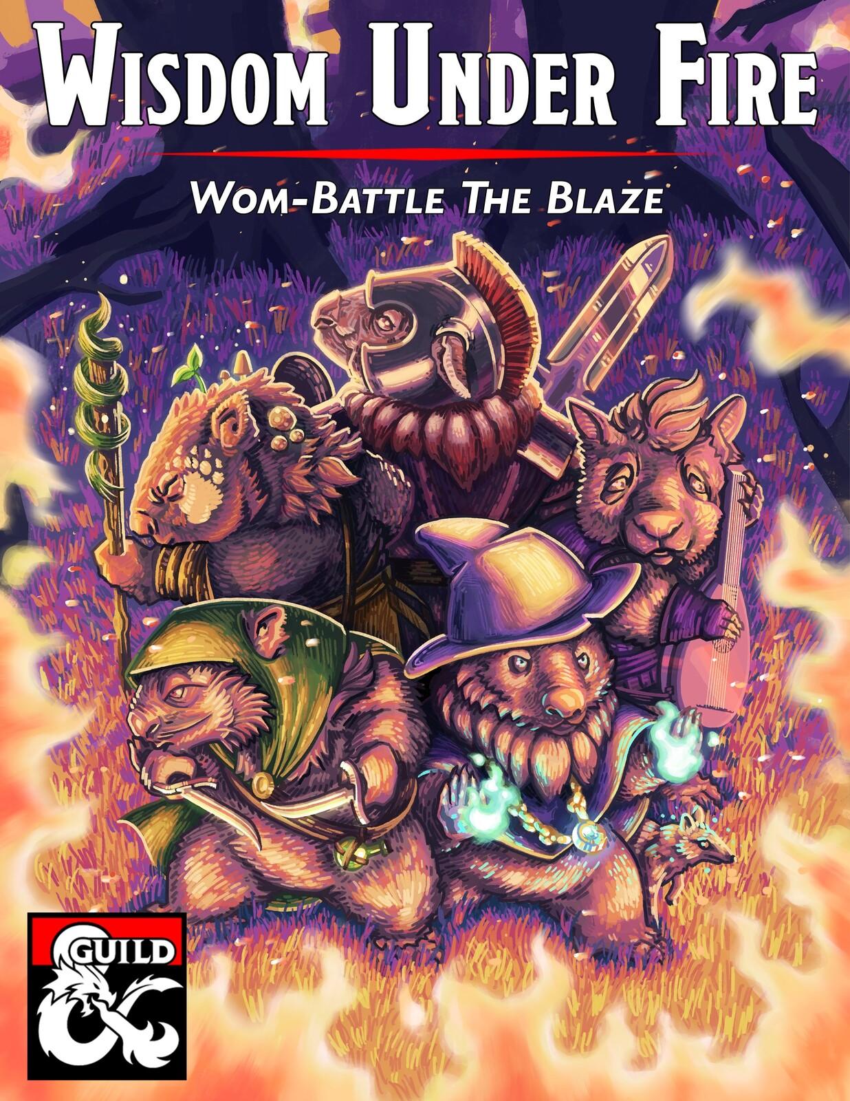 Wisdom Under Fire (D&D one-shot Cover Art)