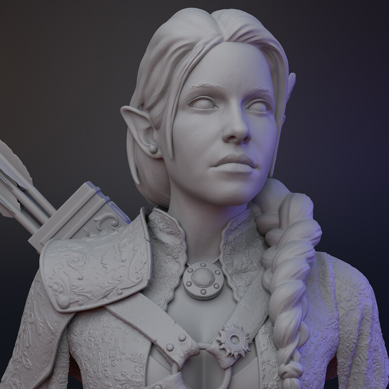 Critical Role busts - Vex Vax and trinket
