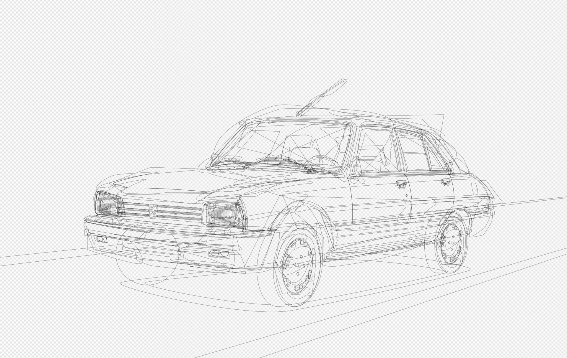 Detailed vector outline
