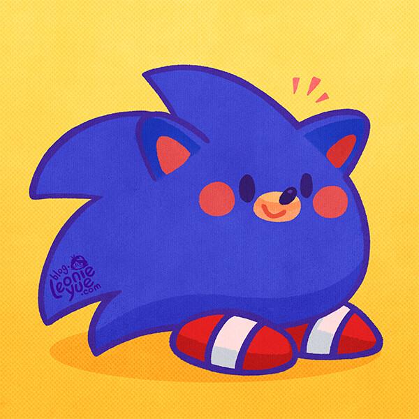 Artstation Gotta Go Fast Sonic The Hedgehog Movie Leonie Yue