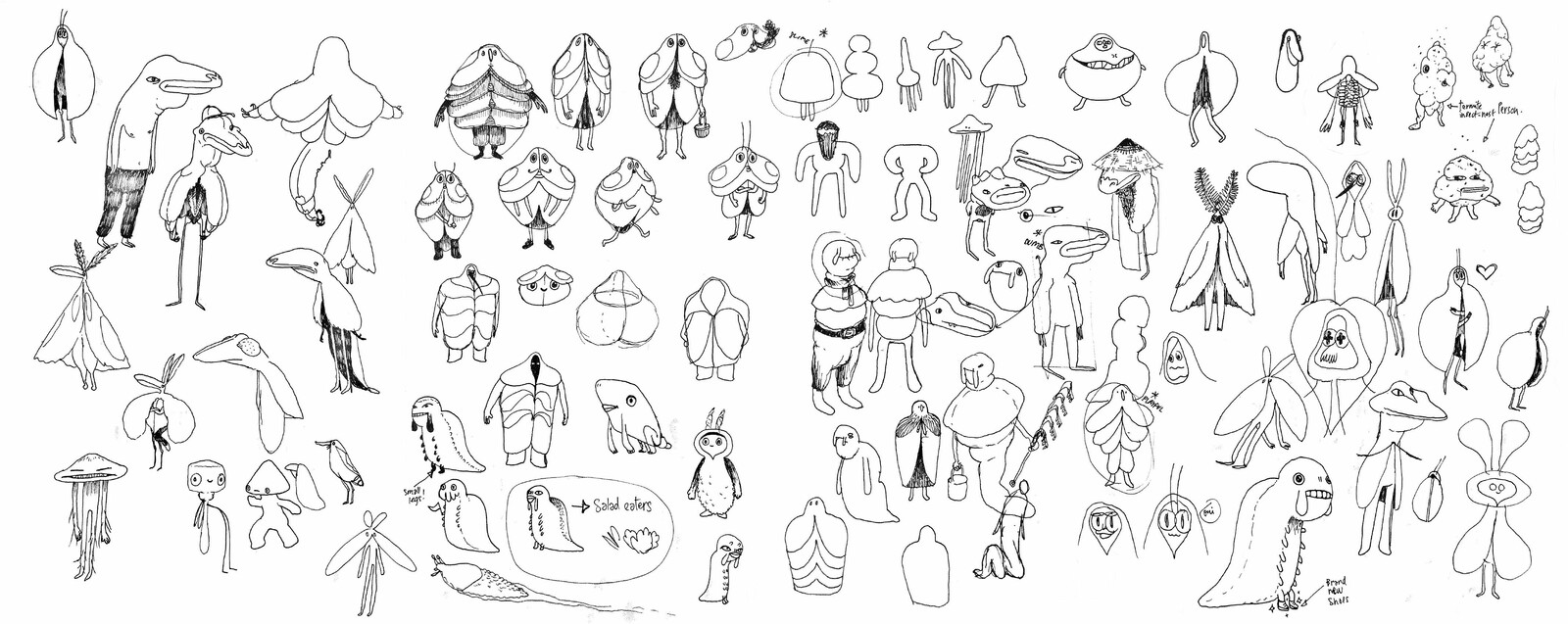 As a process, I always start with simple sketches.