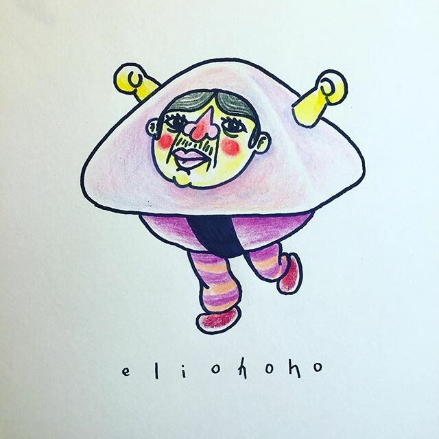 🍠🍬This strange character is the mascot of a pyramid shaped mochi brand, bearing the face of their creator, a man known for his generosity and his ugly face.🍈☄️