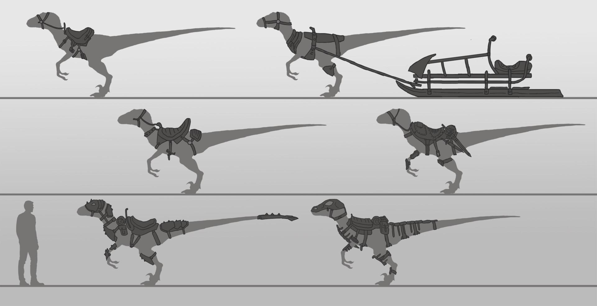Artstation Ark Evolved Raptor Adam Mason