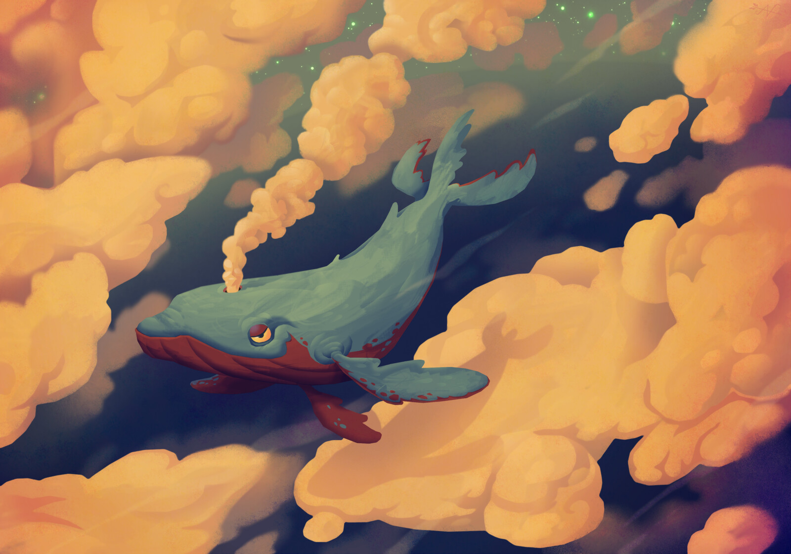 i think its a right of passage that everyone has to paint a floating whale at least once in their lives
