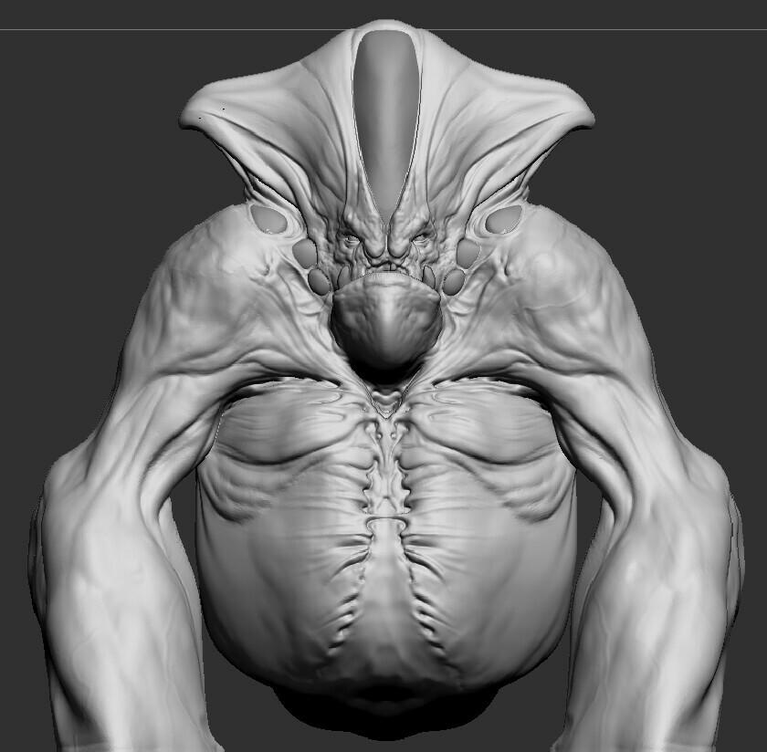 Base sculpt for the alien