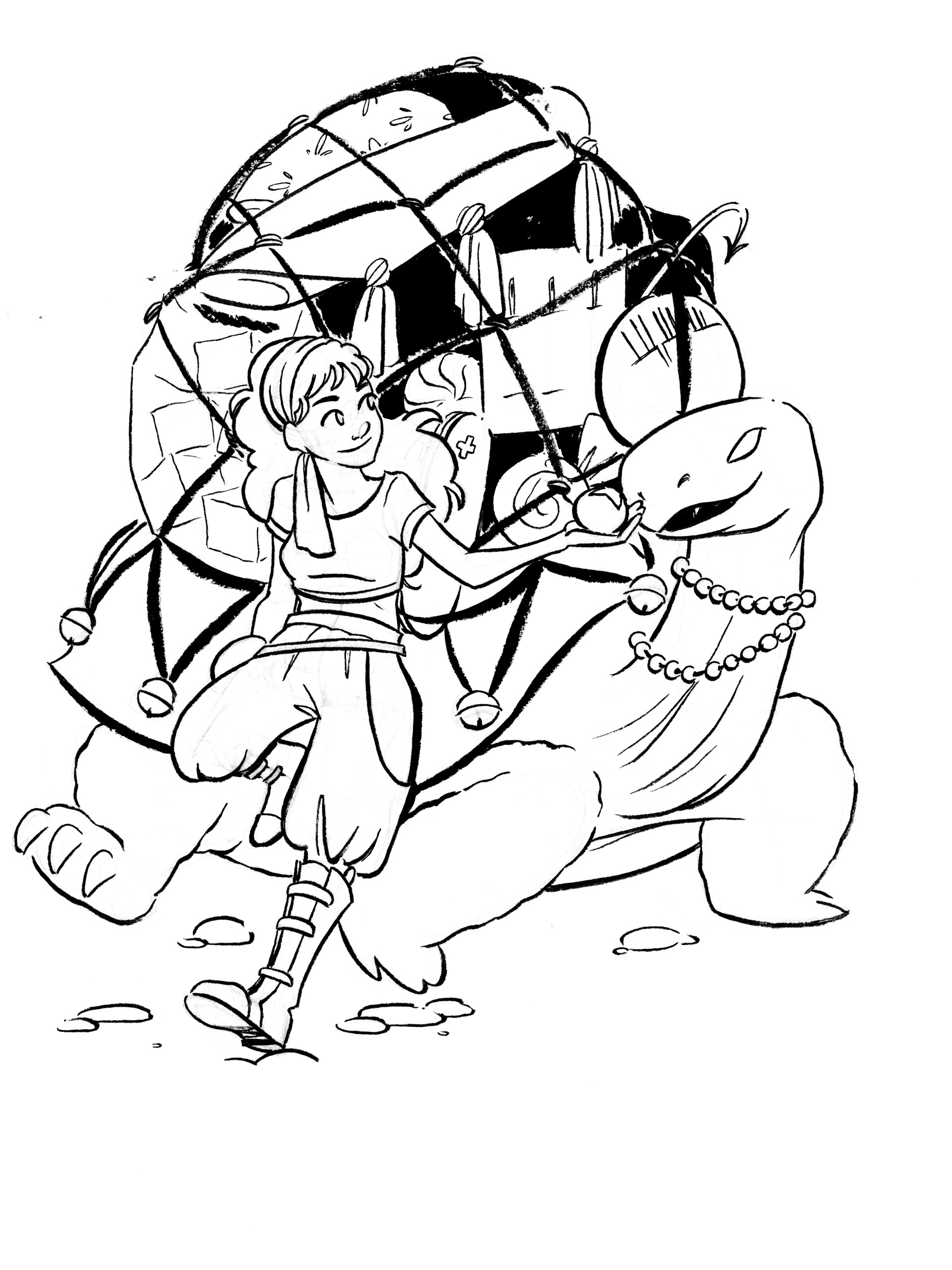 Inked sketch originally created in October 2017.