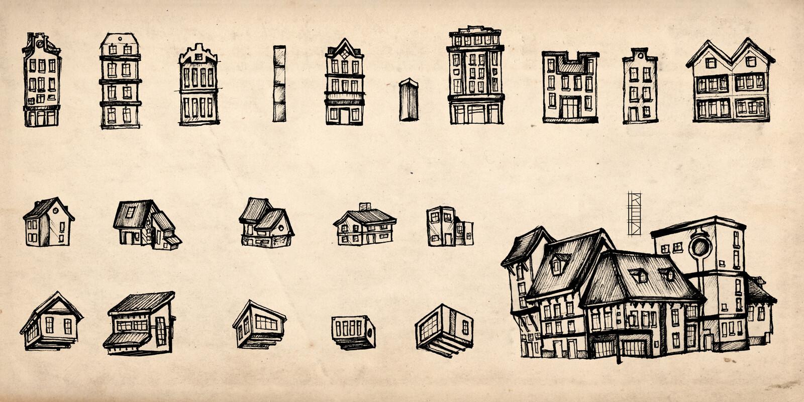 Sketch Buildings Assets