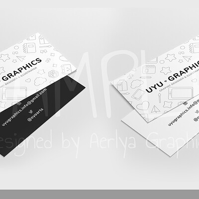 Aerlya graphics sample businesscard uyugraphics