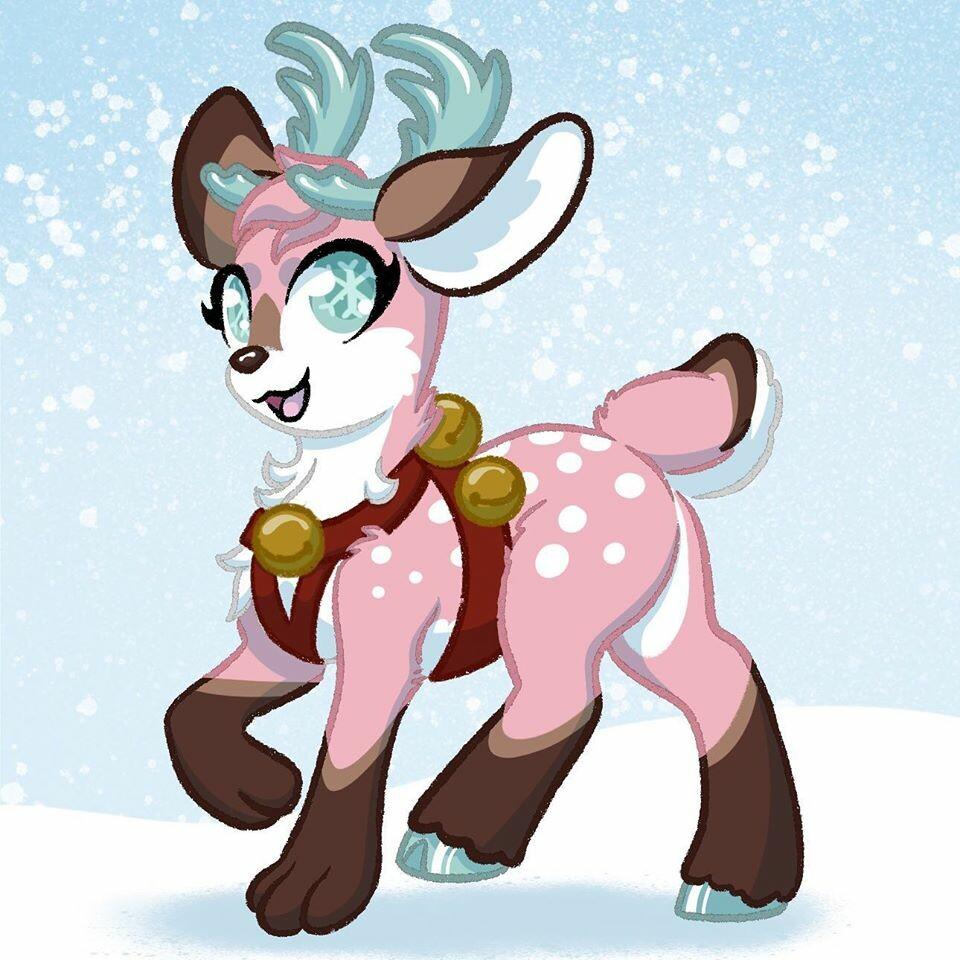 Animal Combination Character Design Caribou-Fox
