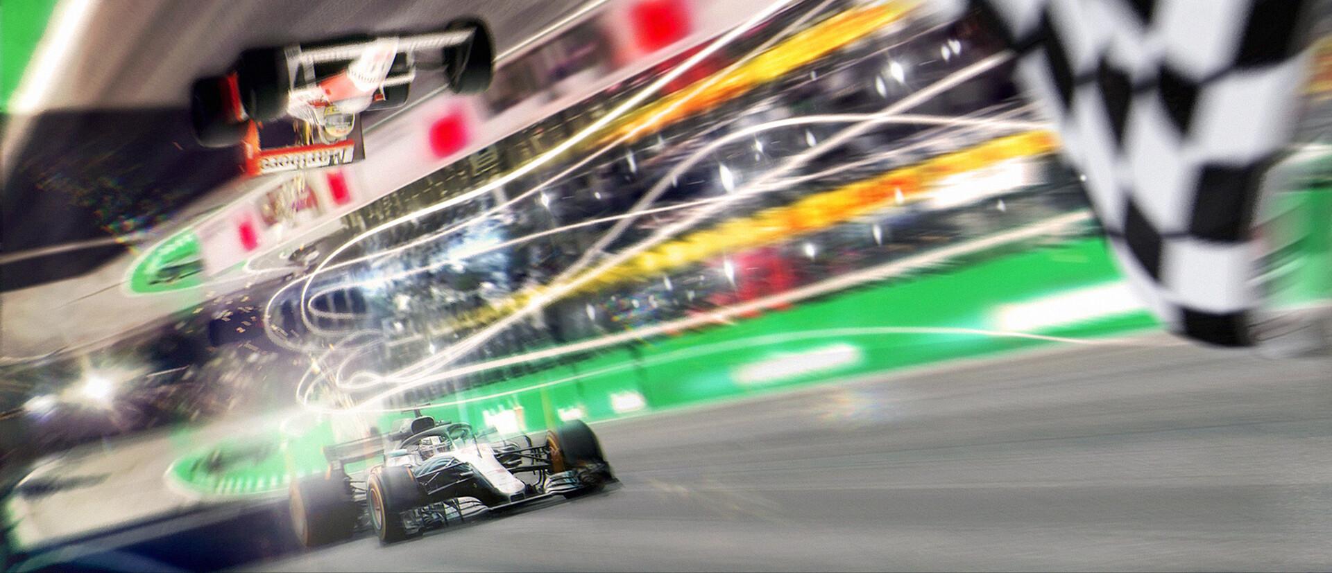 Hamilton vs Senna racing down Interlagos!