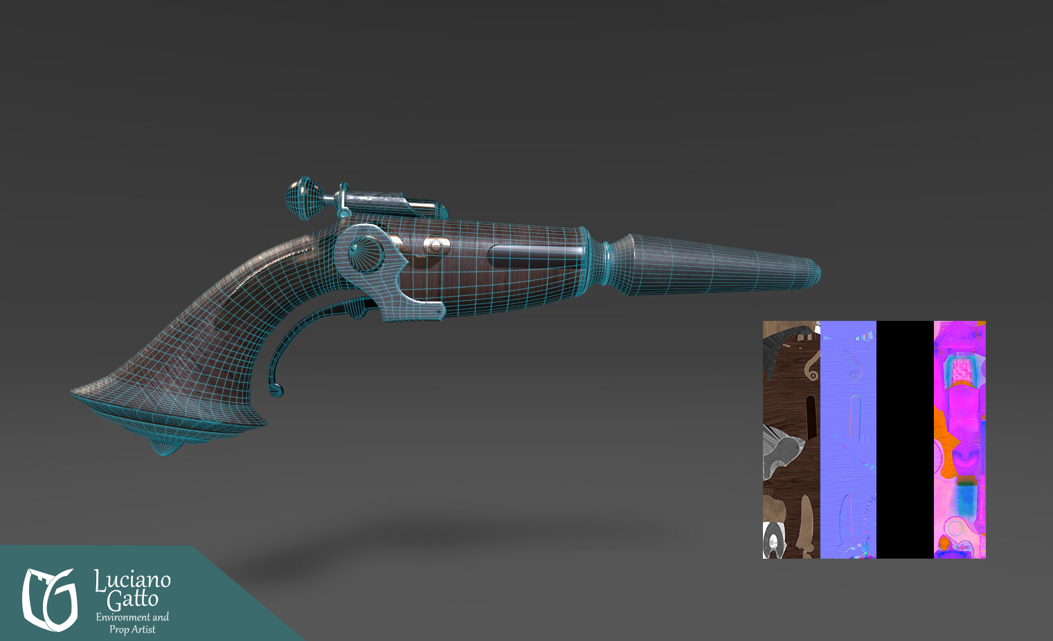 Jim Hawkin's gun Wireframe and Maps