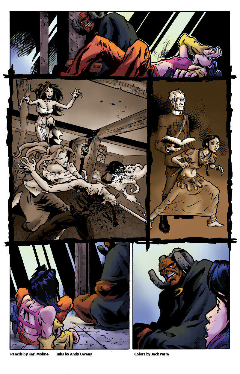 Collaborative Piece. Pencils: Karl Moline  Inks: Andy Owens Colors by me