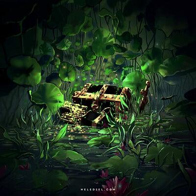 Nele diel treasure in the swamp