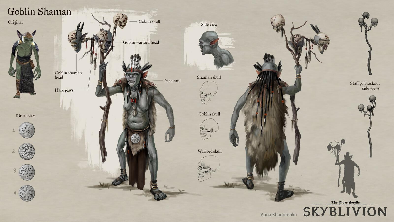 Skyblivion: Goblin Shaman