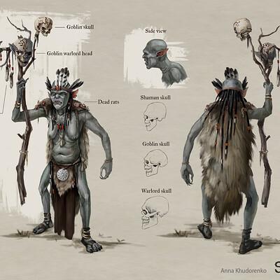 Anna khudorenko goblin shaman skyblivion anna khudorenko
