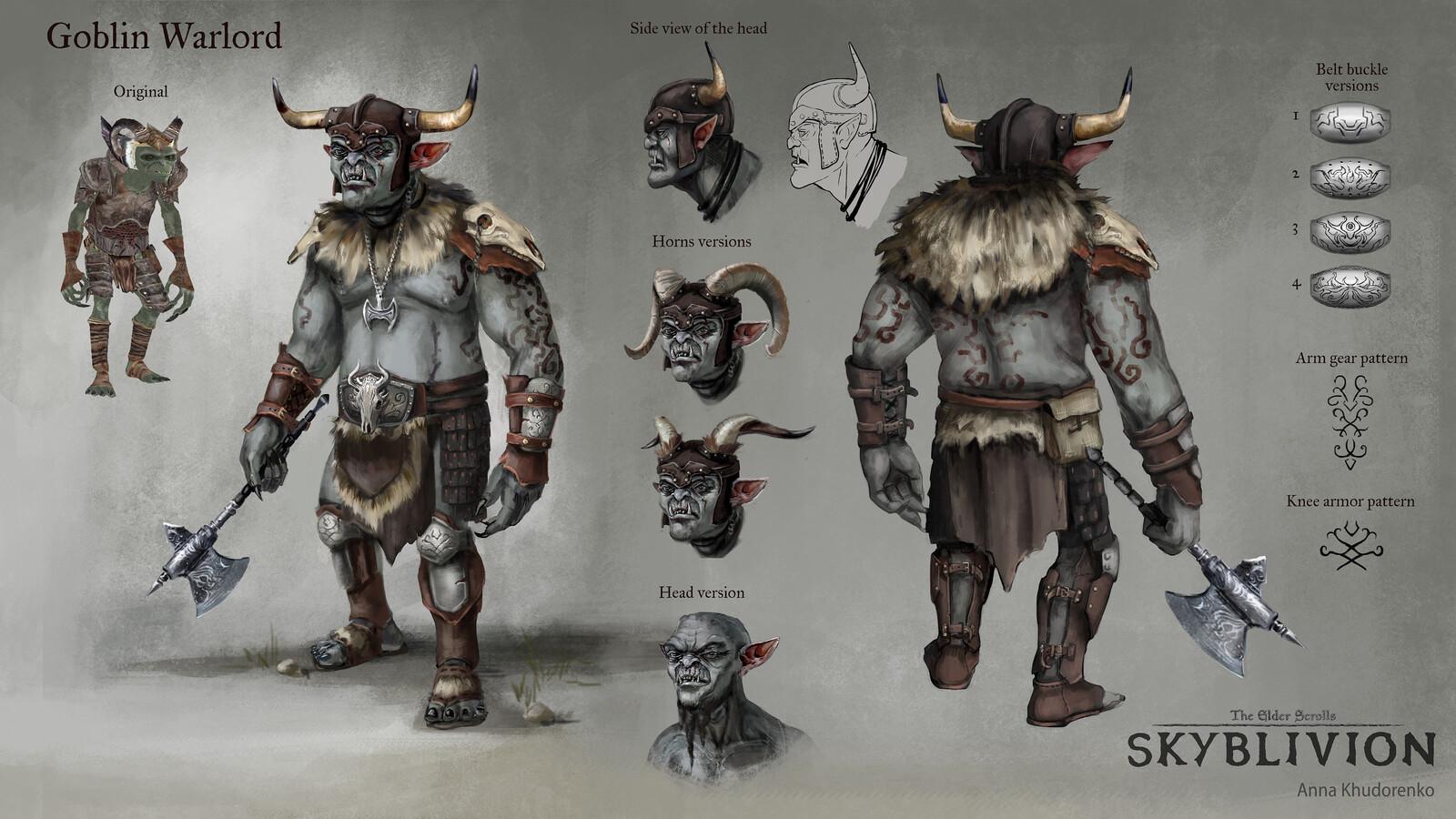 Skyblivion: Goblin Warlord