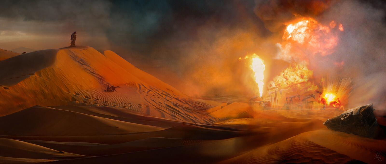 war in desert