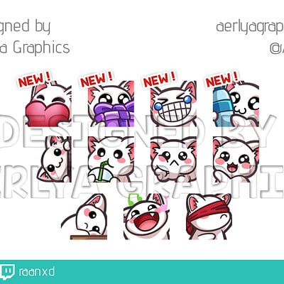 Aerlya graphics sample order 4 emotes raanxd