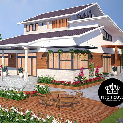 Neohouse architecture thiet ke biet thu vuon 1 tret 1 lau tai binh phuoc 2