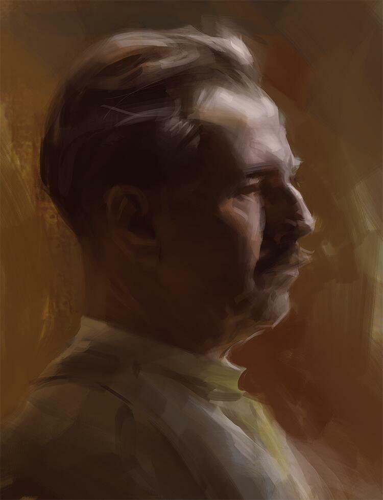 Head painting&Process