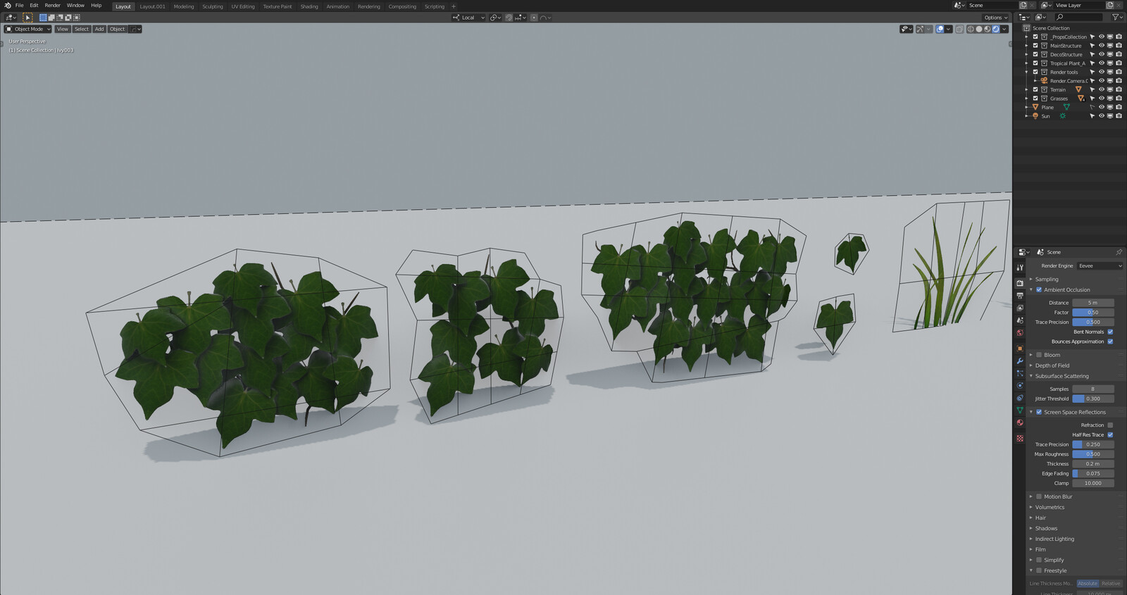 Enchanted project Working Progress Assets Ivy