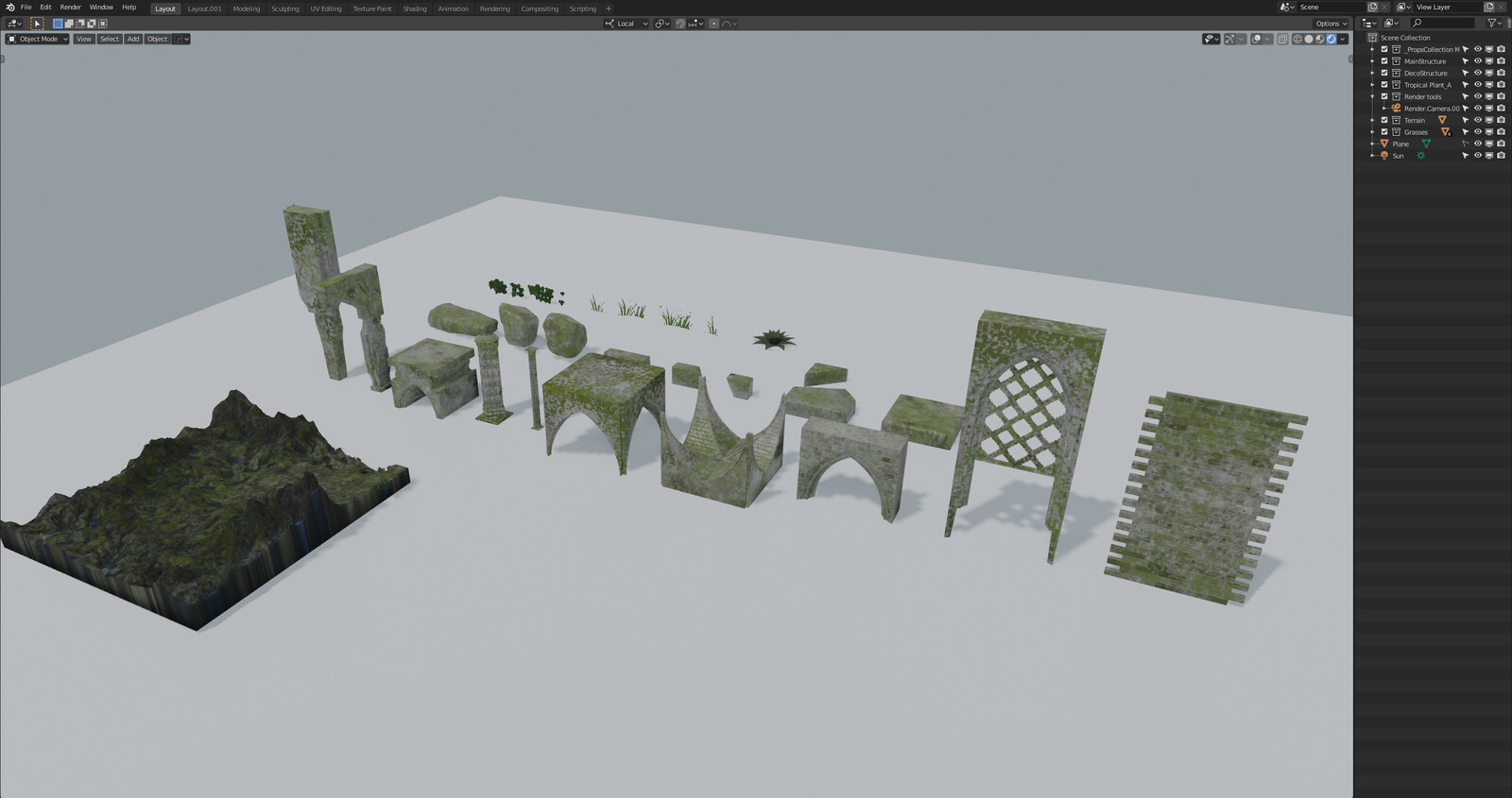 Enchanted project Working Progress Assets
