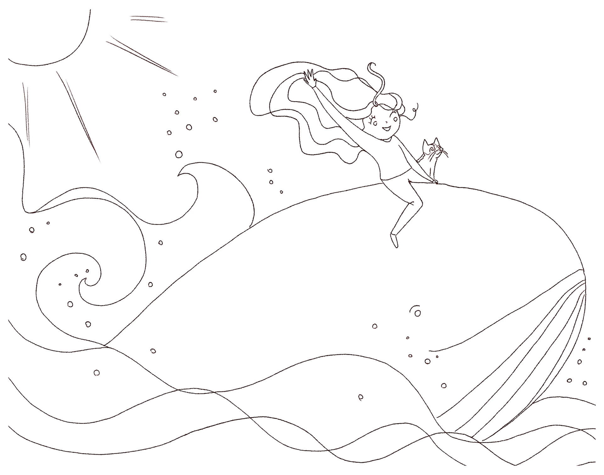 Rough composition sketch, as provided by client (Artist credit: Elettra Cudignotto)