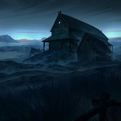Nele diel houses in the mist