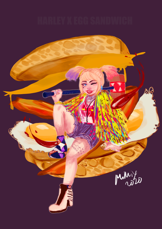 Artstation Harley Quinn X Egg Sandwich Emee Ganibi