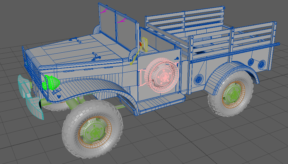 Wireframe of the model