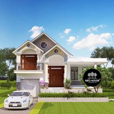 Neohouse architecture thiet ke biet thu 1 tang gac lung tai binh phuoc 1