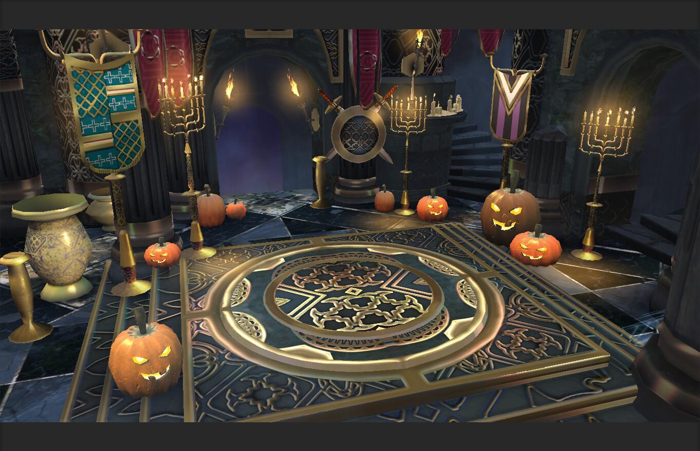 Halloween lootbox opening scene
