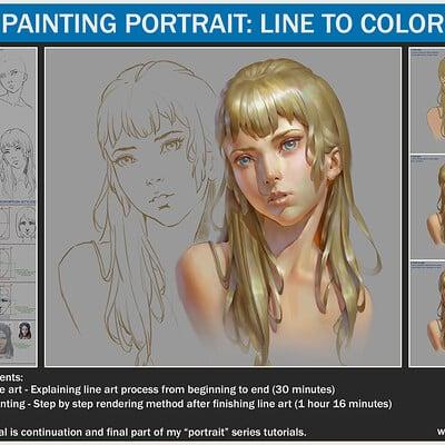 Painting portrait - Line to color