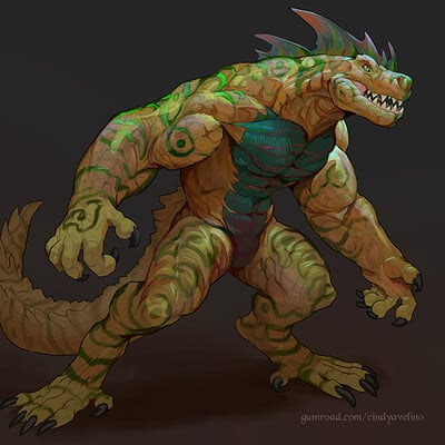Cindy avelino lizardfolk variant b base example