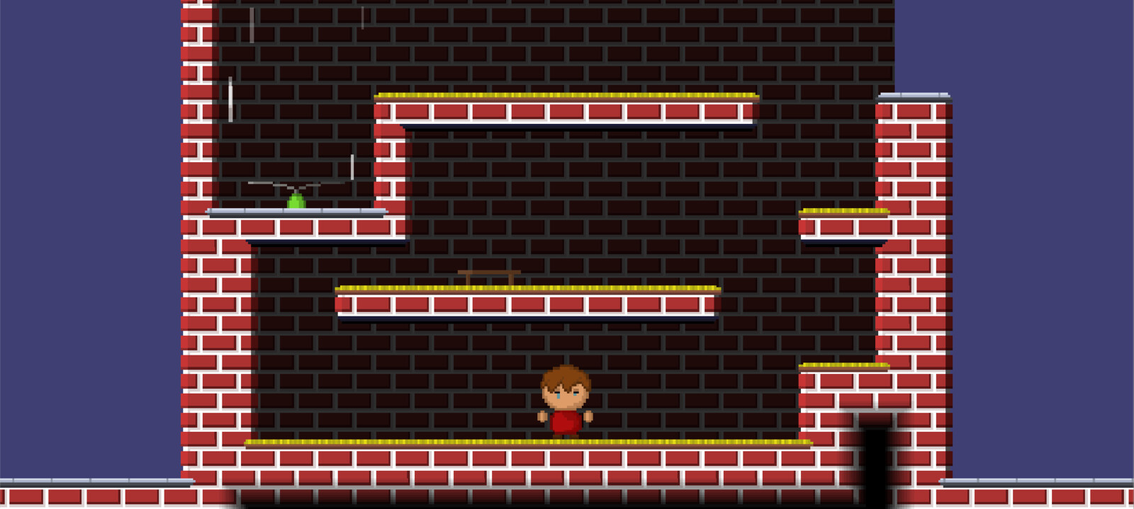 Screenshot of the tileset in a level of the platformer.