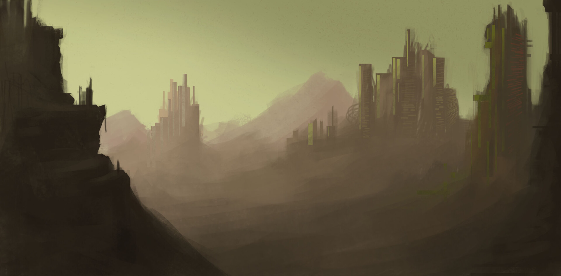 Early sketch of Cities of Dust