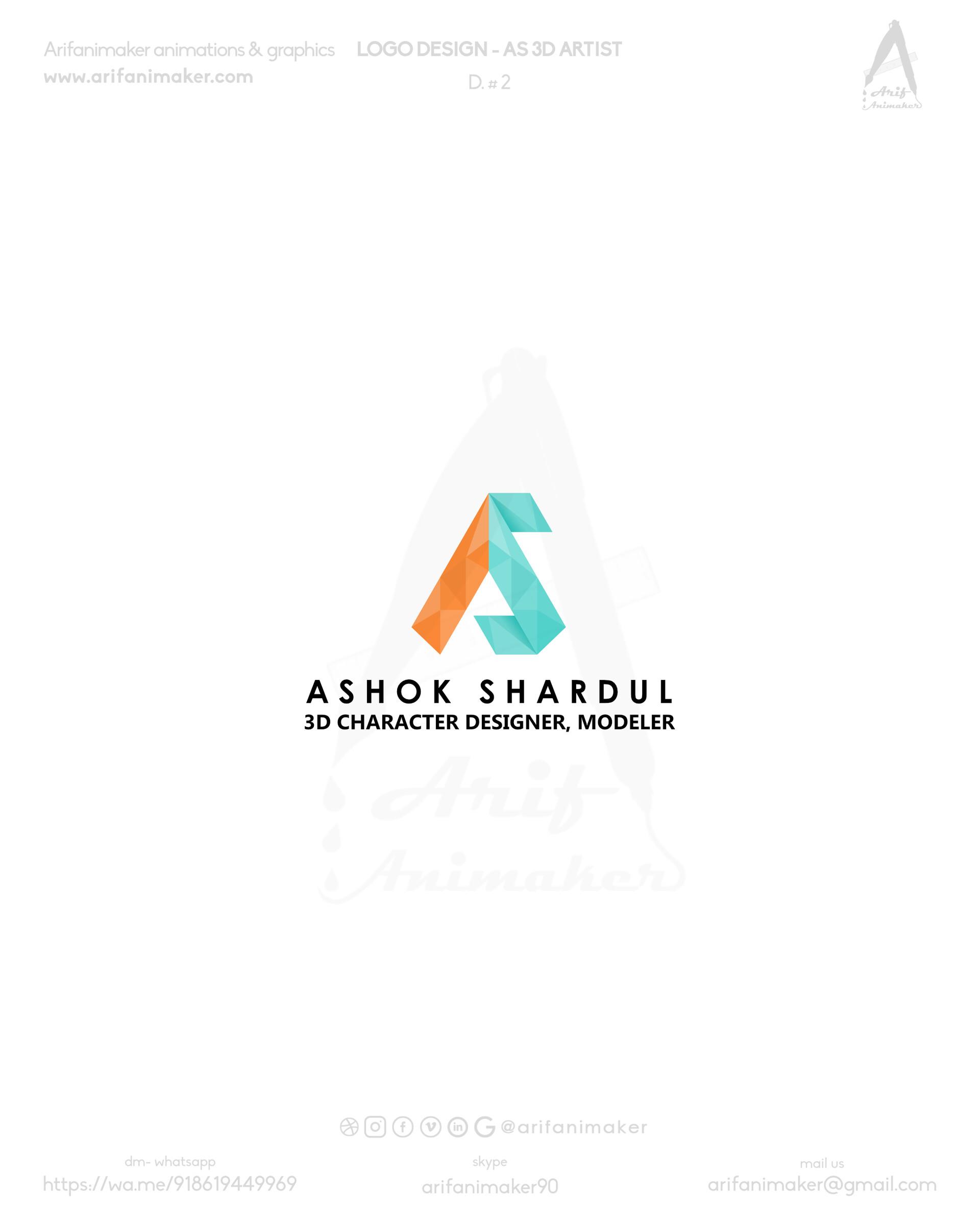 Artstation As 3d Artist Logo D Concept 2 Mohammad Arif