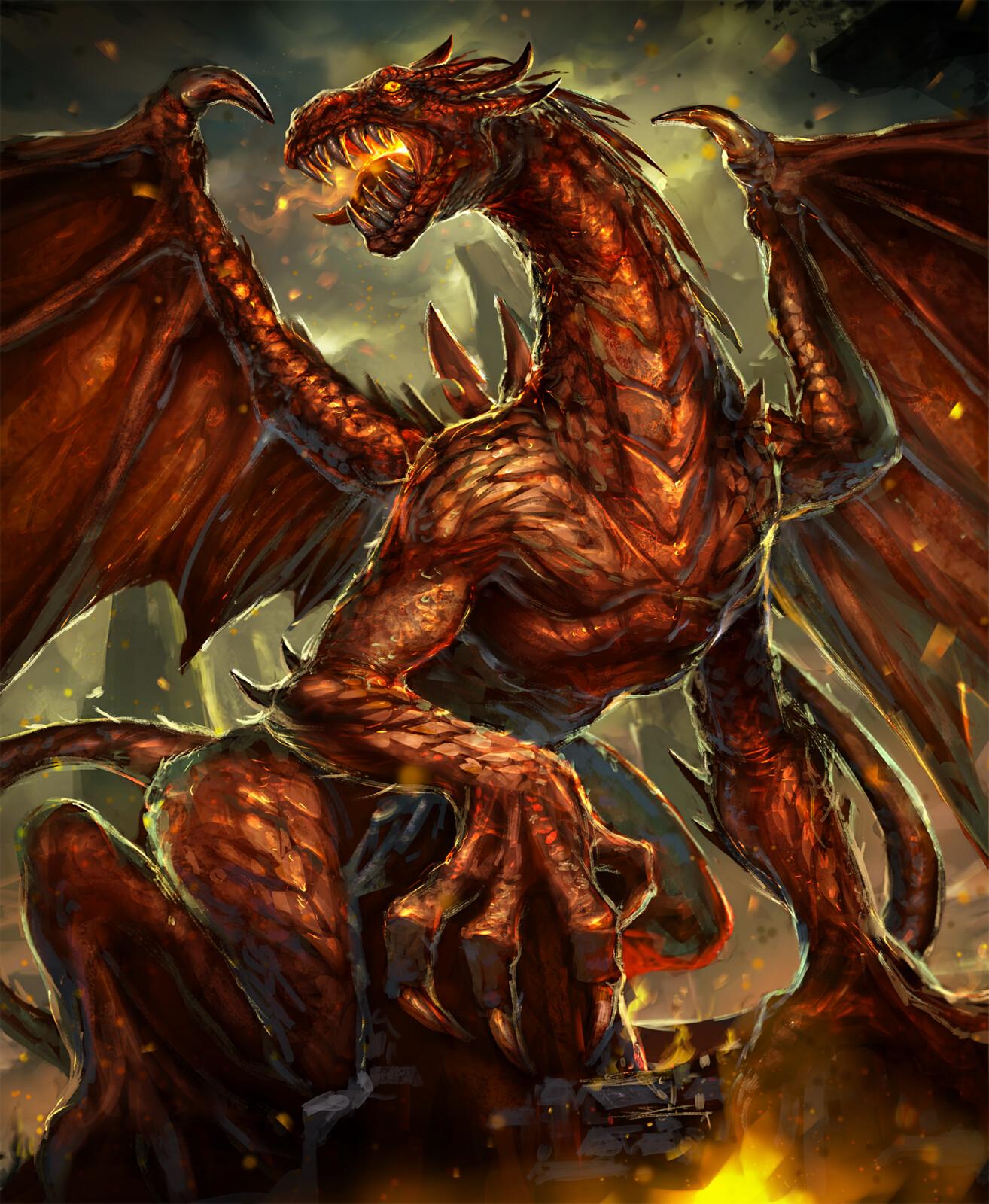 Elder Fire Dragon-Arcane Gladiator TCG
