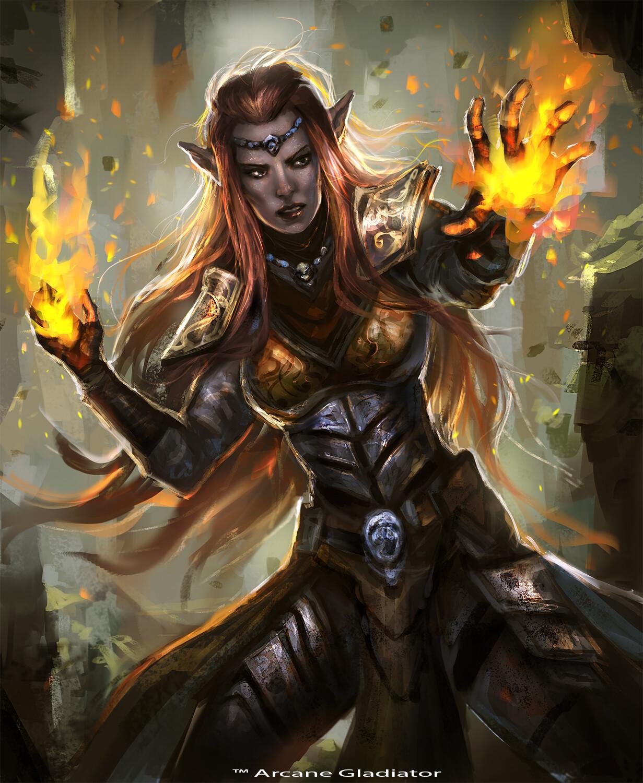 Elven Firemage-Arcane Gladiator TCG