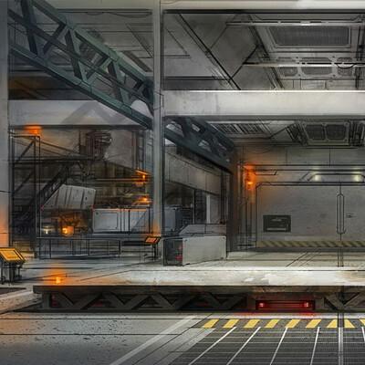 Spuke 3d military facility interior2